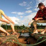 Floß bauen Schweden