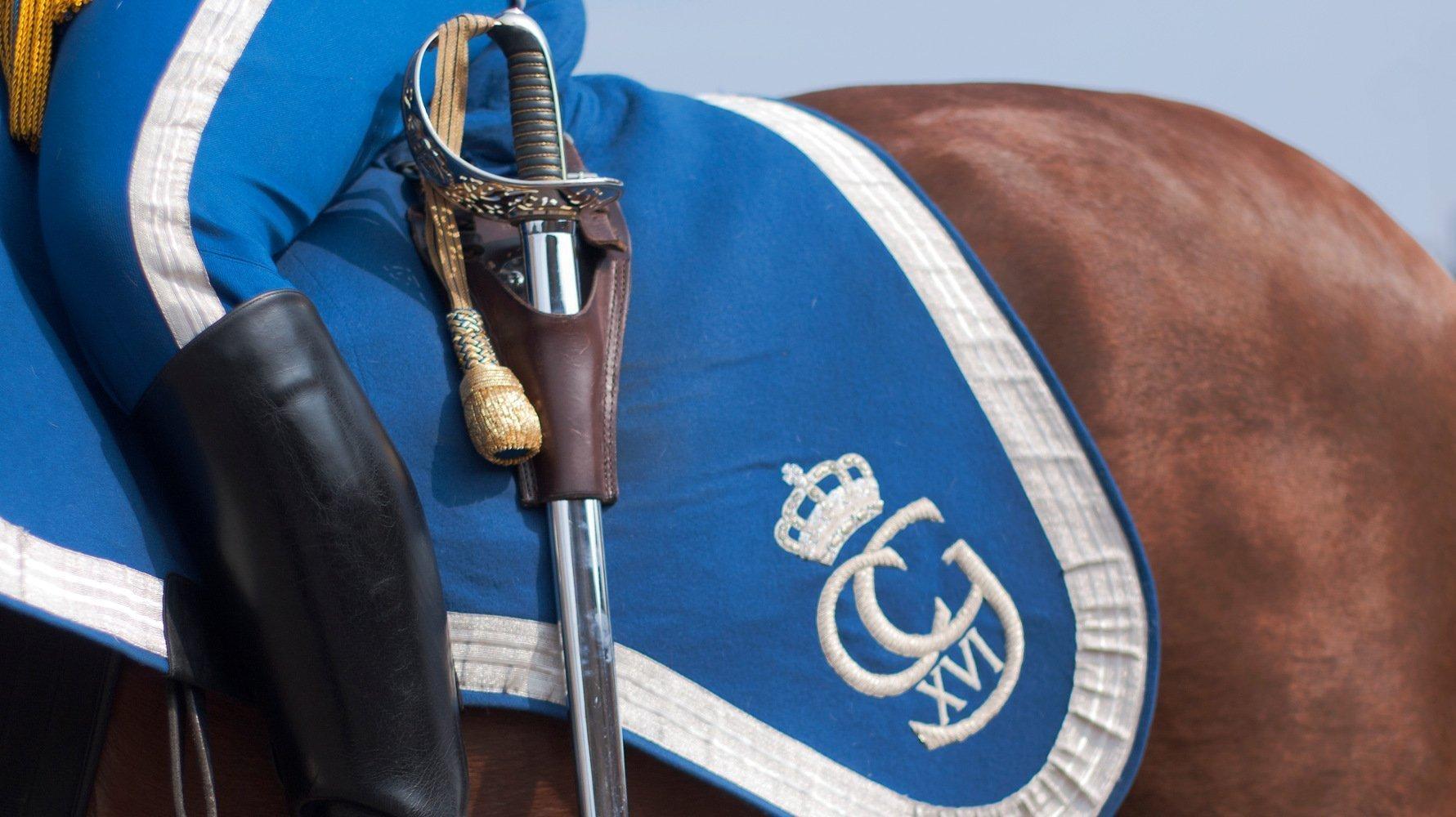 Stockholm königliche Schlosswache auf Pferd