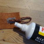 Zinndraht Armband DIY selber machen Enden verkleben