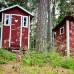 Aussentoilette Torfklo Ferienhaus Schweden