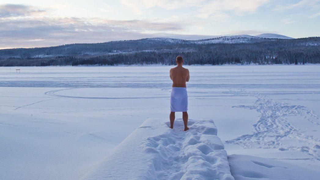 Sauna Schnee