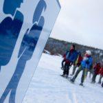 Wandern im Winter Schweden