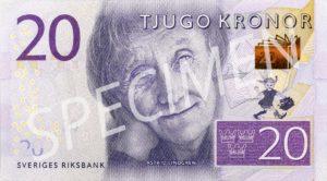 Astrid Lindgren Geldschein Schwedische Kronen