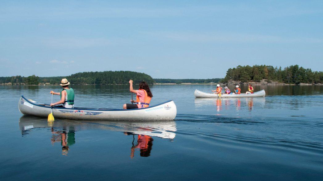 Kanufahren Schweden Familienurlaub