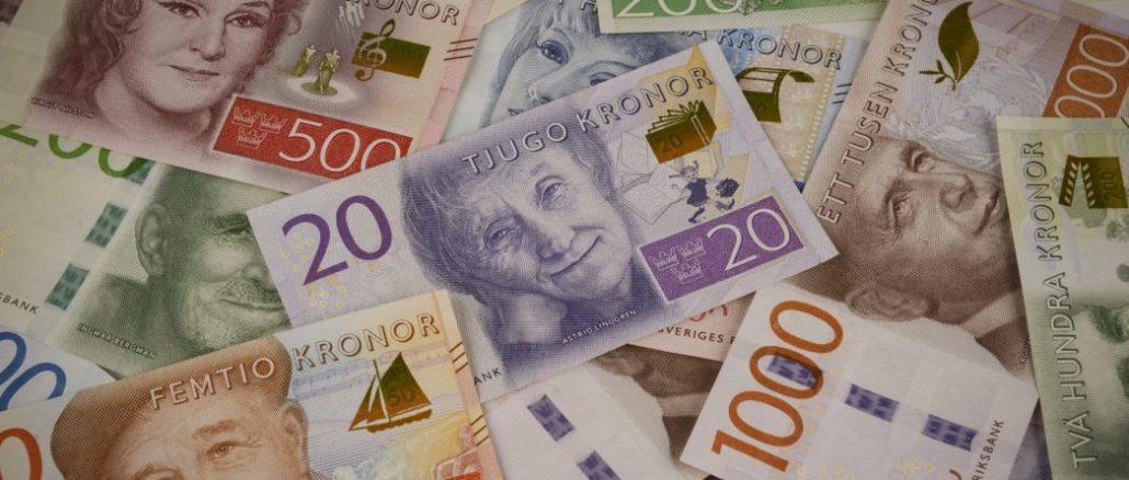 Schwedische Kronen Geldscheine in Schweden bezahlen