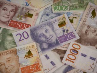 Schwedische Kronen neue Geldscheine