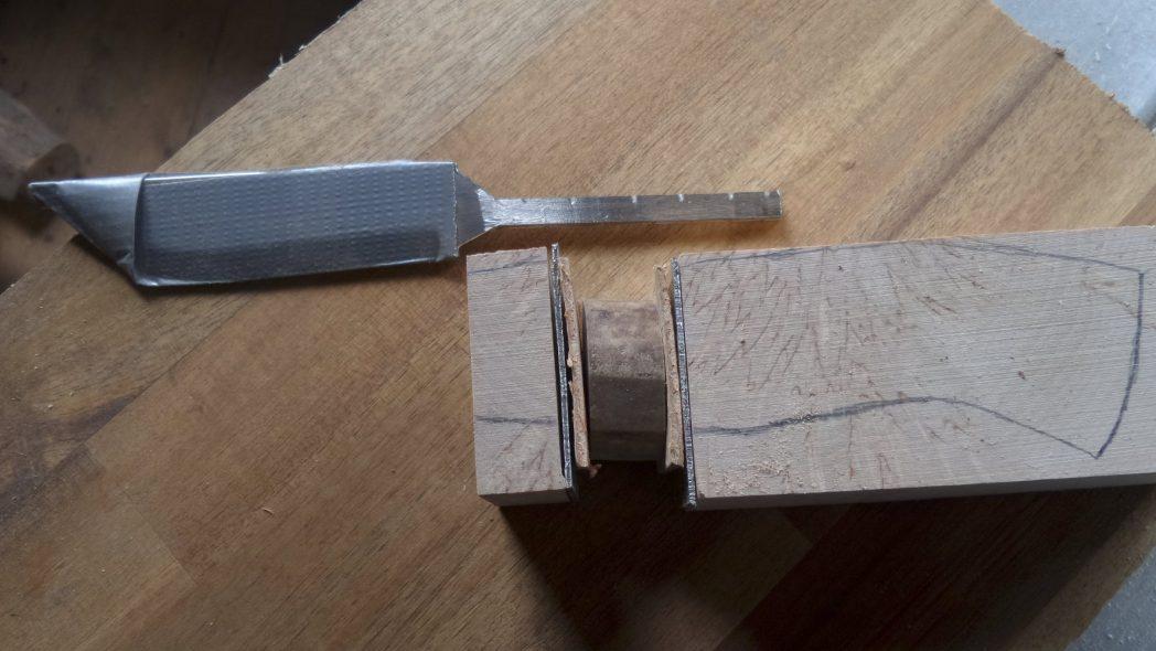 Messer machen Rohentwurf