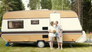 Schweden heiraten im Wohnwagen