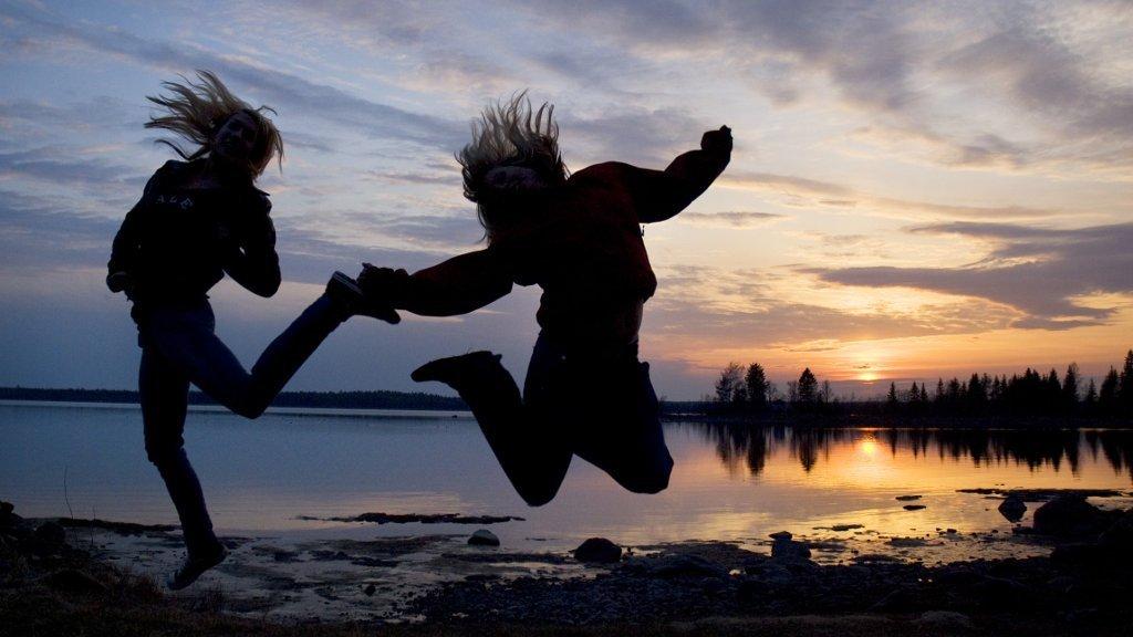Mitternachtssonne in Schweden