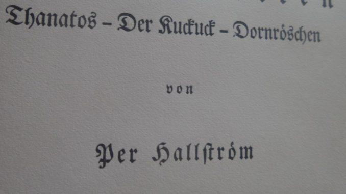 Per Hallström Schriftsteller