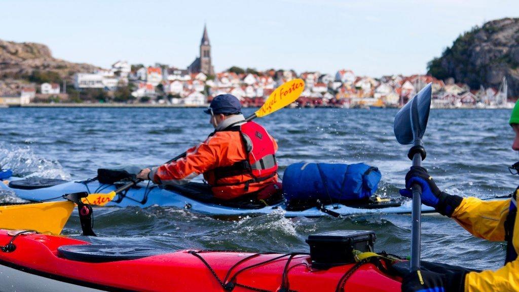 Kajak fahren Schweden Fjällbacka