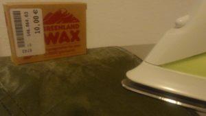 Fjällräven Greenlandwax bügeln
