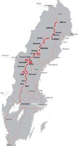 Inlandsbana Strecke