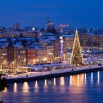 Weihnachtsstimmung Stockholm Skeppsbron