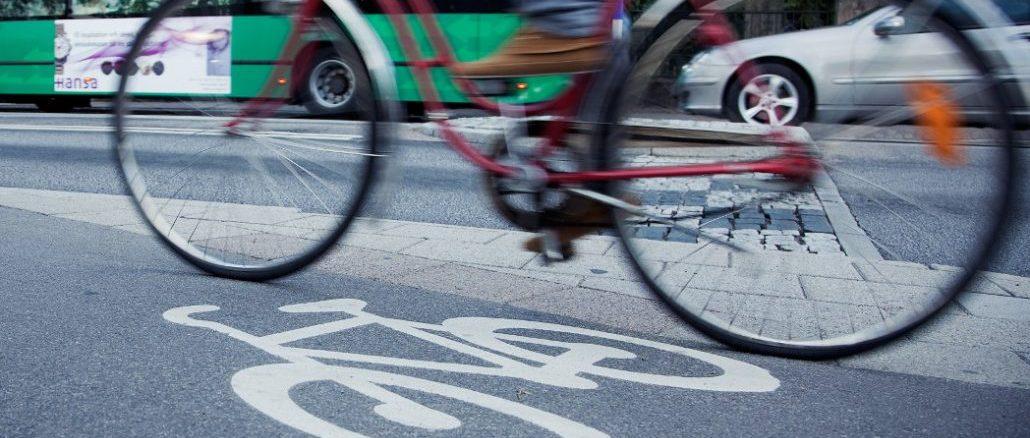 Fahrradfahren in Stockholm Schweden