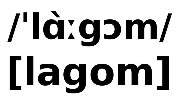 lagom schwedisch Bedeutung