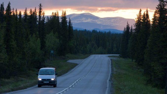 Autofahren in Schweden Lappland
