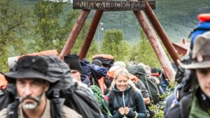 Start des Fjällräven Classic in Nikkaluokta