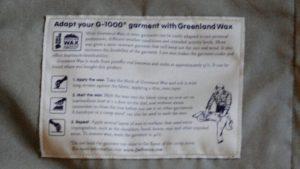 Greenlandwachs Anleitung G1000