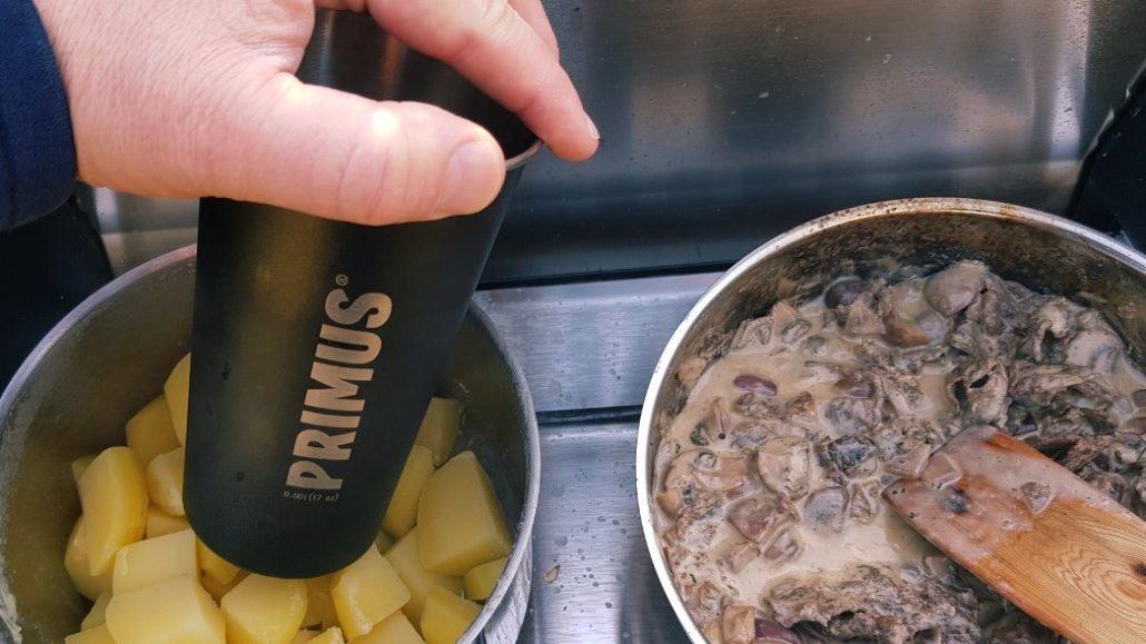 Stampfkartoffeln stampfen ohne Gerät